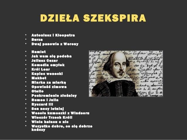 Myśl O Szekspirze