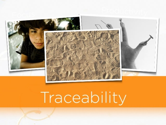 Focus Productivity Traceability