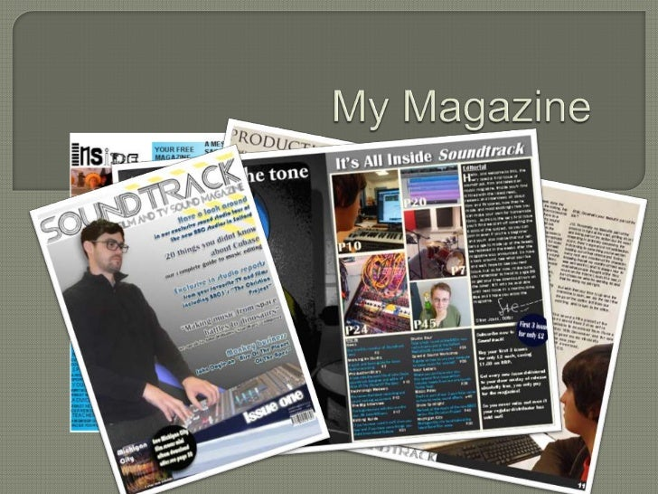 Just how does my music magazine compare to theconventions of other such magazines?   The model is on a fairly blank backg...