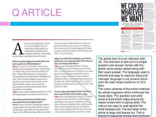 Handwriting analysis magazine articles
