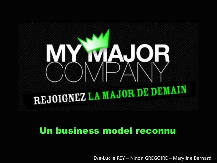 Un business model reconnu         Eve-Lucile REY – Ninon GREGOIRE – Maryline Bernard