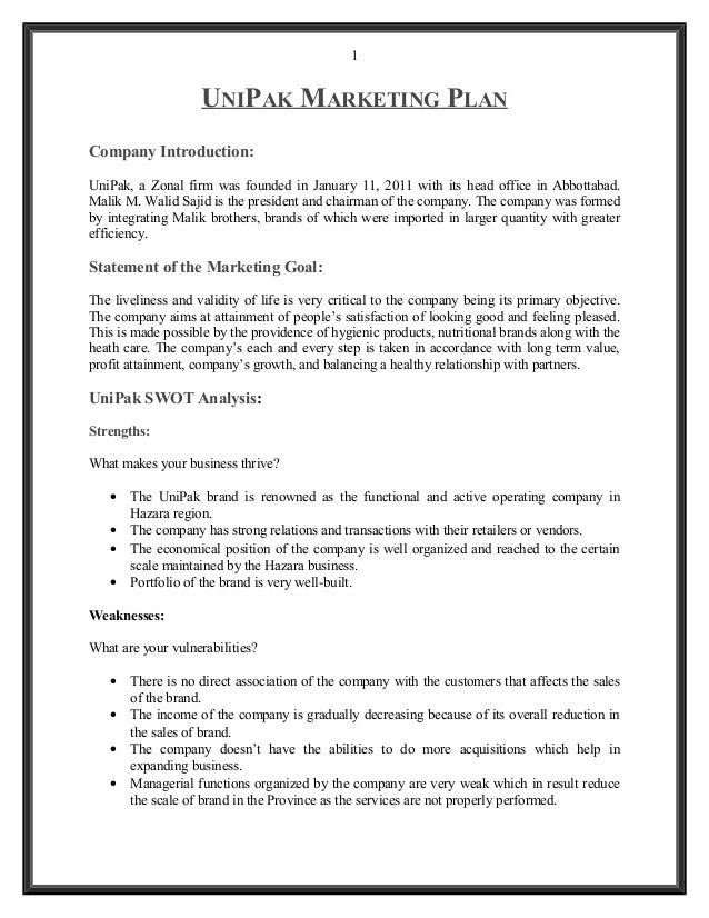 marketing assignments examples