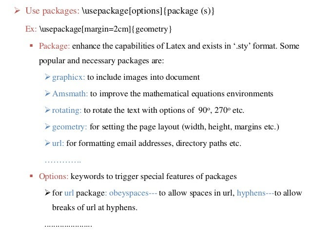 page size and margins sharelatex