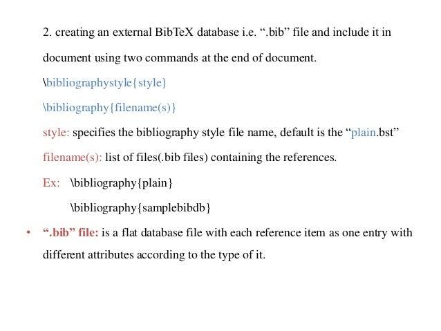 Latex Bst Files