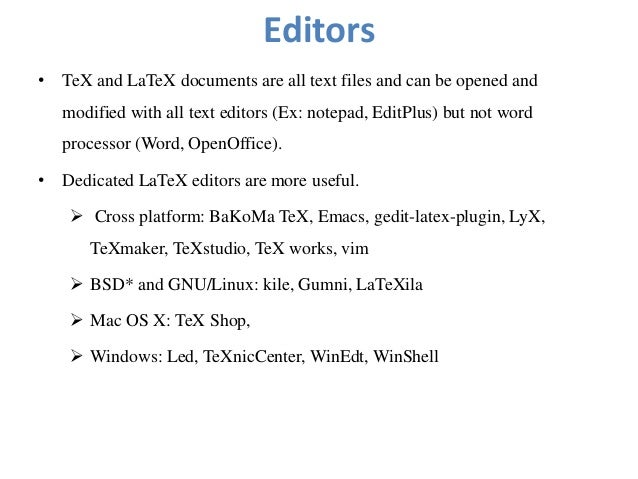 documents writing with LATEX