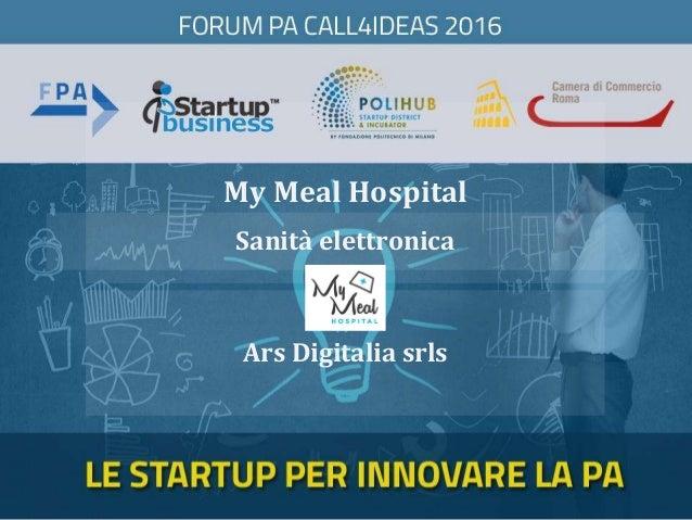 My Meal Hospital Ars Digitalia srls Sanità elettronica