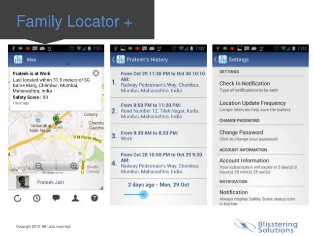 Family Locator +Copyright 2012. All rights reserved.