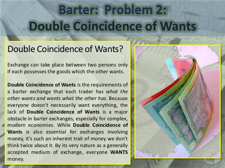 Image result for coincidence of wants definition