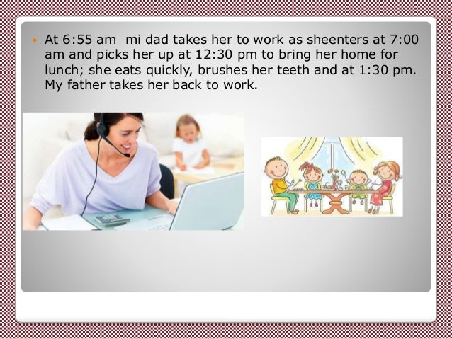 essay daily routine my mother