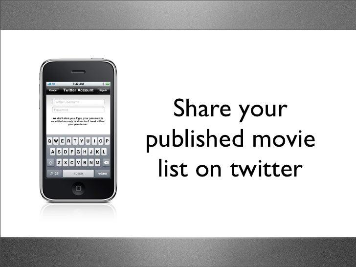 my movie list iphone app