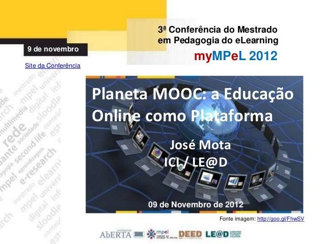 3ª Conferência do Mestrado                              em Pedagogia do eLearning9 de novembro                            ...
