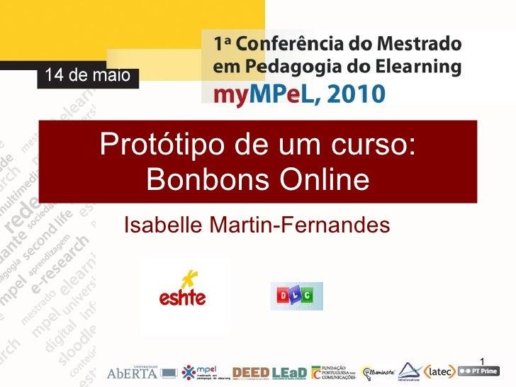 Protótipo de um curso: Bonbons Online Isabelle Martin-Fernandes