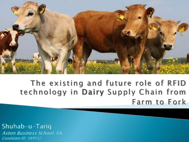 The existing and future role of RFID technology in Dairy Supply Chain from <br />Farm to Fork<br />Shuhab-u-Tariq<br />Ast...