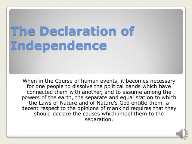 My multimedia project on the declaration of independence 18 april 2…