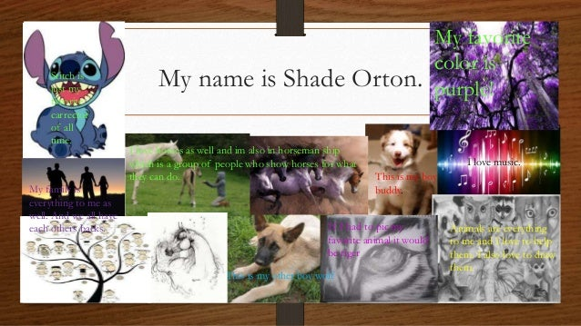 My Name Is Shade.My Name Is Shade Orton