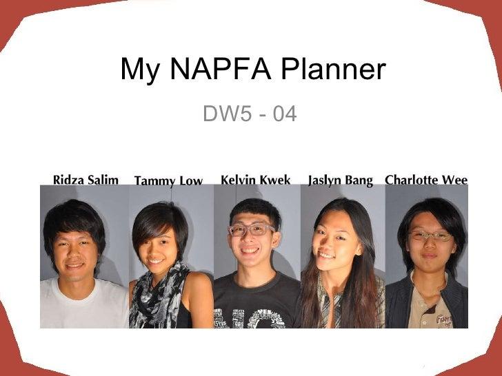 My NAPFA Planner DW5 - 04