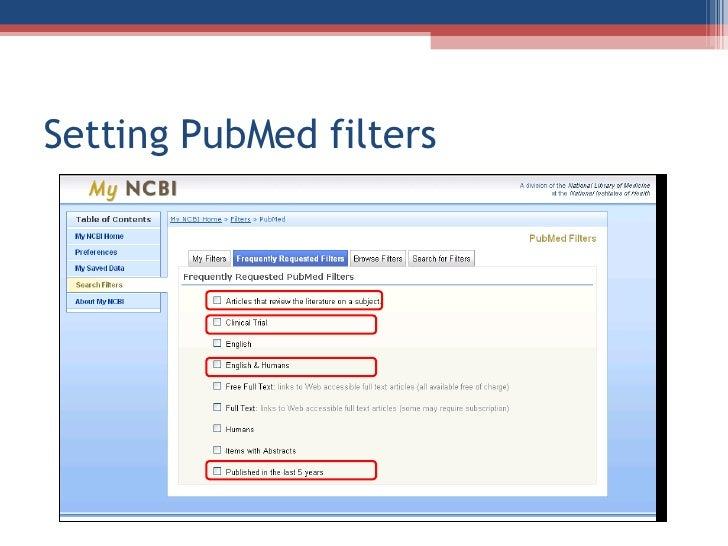 6a(1). PubMed's MyNCBI - MW3104: Introduction to ...