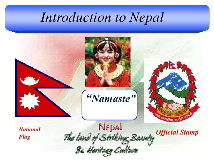 """Introduction to Nepal """"Namaste"""" National Flag Official Stamp"""
