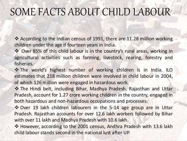Essay on child labour in india