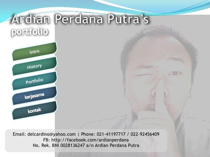 Ardian Perdana Putra portfolio 2011