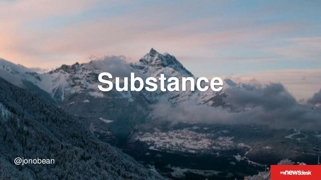 @jonobean Substance @jonobean