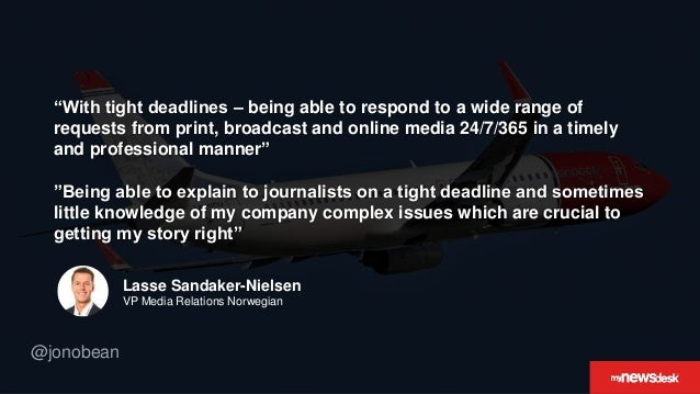 """@jonobean """"With tight deadlines – being able to respond to a wide range of requests from print, broadcast and online media..."""