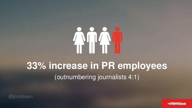 @jonobean 33% increase in PR employees (outnumbering journalists 4:1)