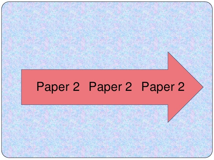 My notes on exam format
