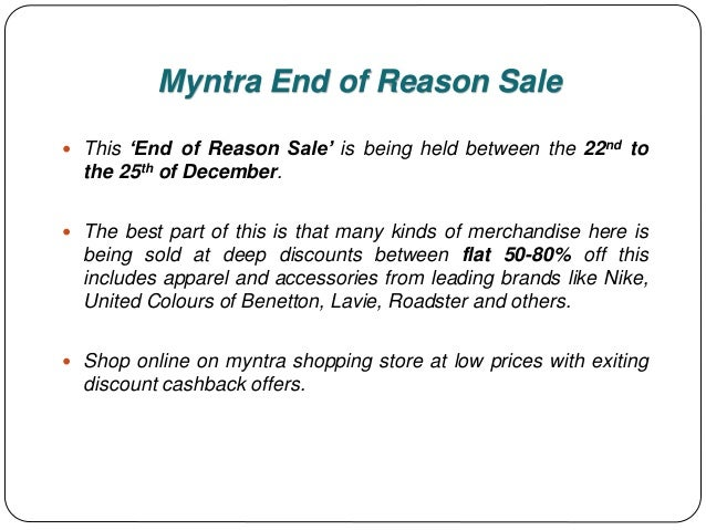 79f6b7a1b3 Upto 80% Off - Myntra End Of Reason Sale 2017 With Big Savings