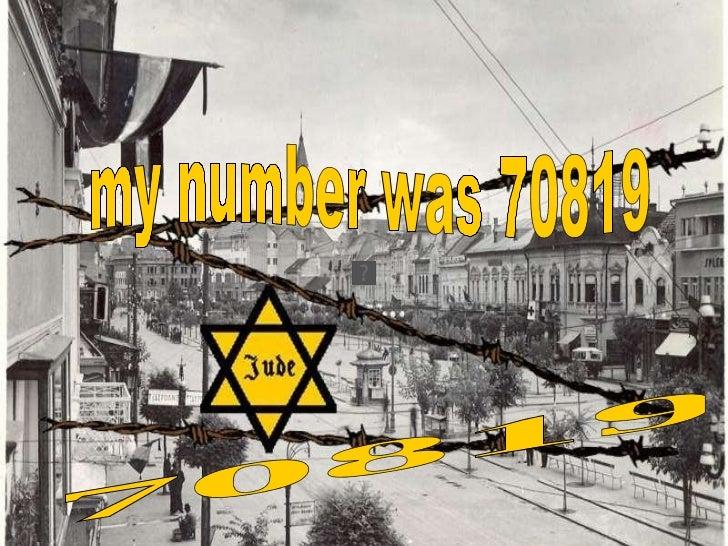 מספר האסיר שלי במחנה הריכוז היה 70819 my number was 70819