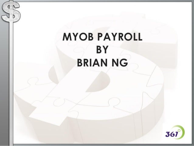 myob how to use payroll