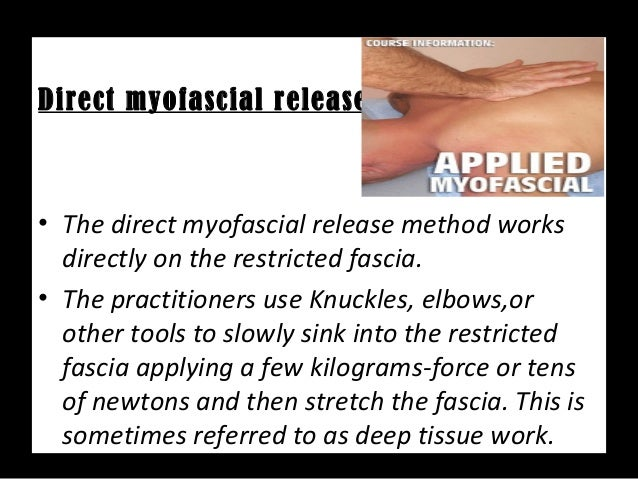 Myofacial Release Therapy(MFR)