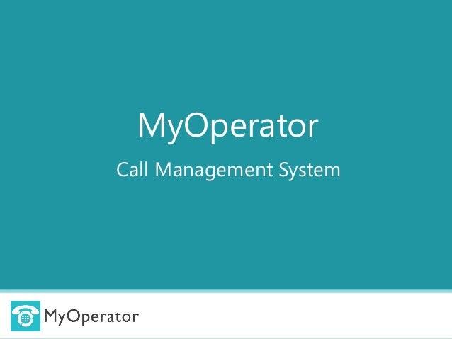 MyOperator Call Management System