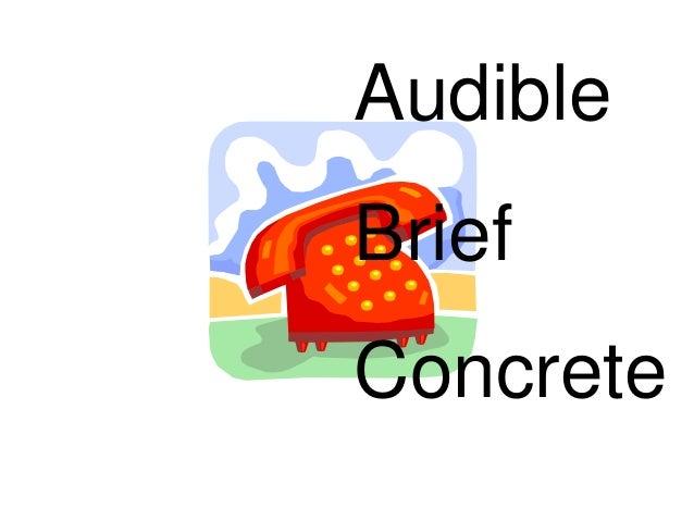 Audible Brief Concrete