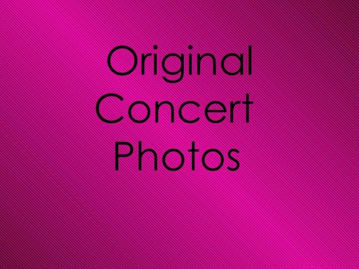 OriginalConcert Photos
