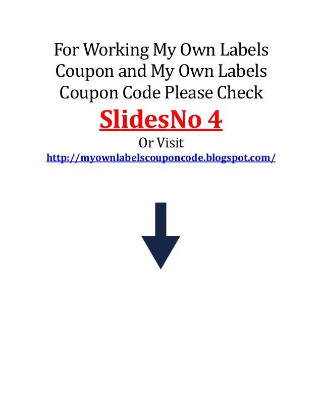 my own labels coupon code. Black Bedroom Furniture Sets. Home Design Ideas