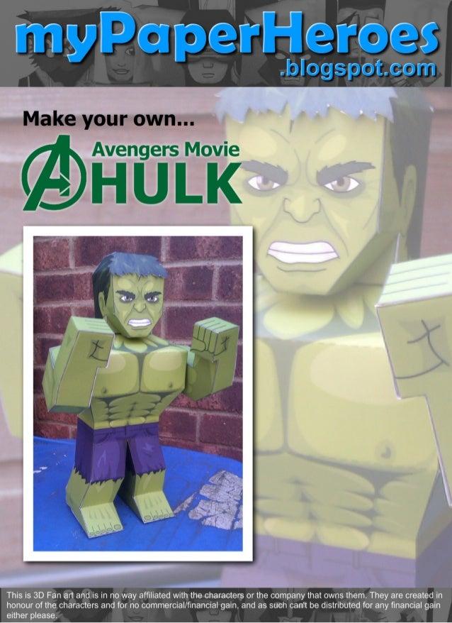 Mypaperheroes avengers hulk