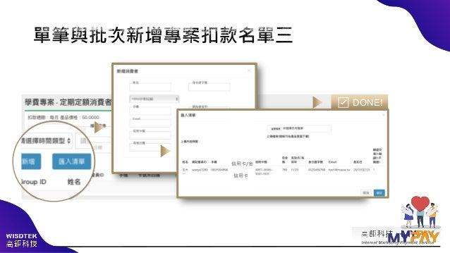 捐款芳名錄管理:檔案下載 or 線上名單查看 每月自動生成捐款芳名錄 ✓ 系統每月產生檔案,自動公布好輕鬆 ✓ 提供查詢介面最簡單