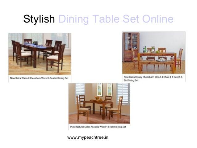 3 Mypeachtreein Stylish Dining Table Set Online