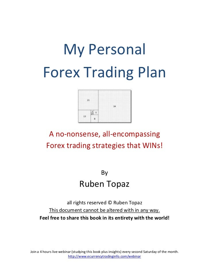 Home Based Forex Business Plan Example