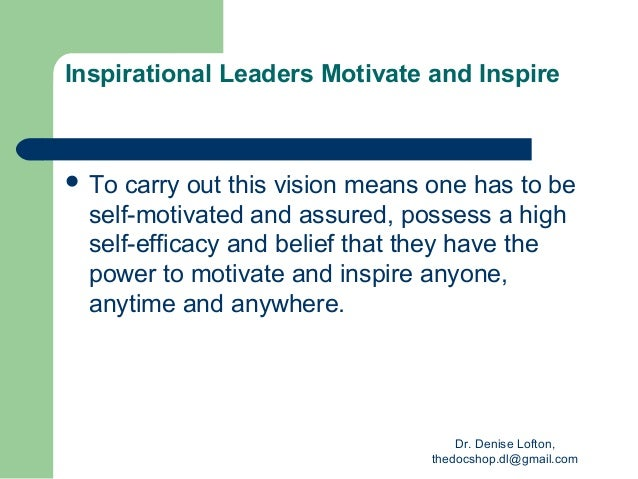 personal vision statement for leadership