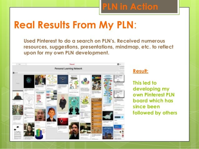 Real Results From My PLN: Used Pinterest to do a search on PLN's. Received numerous resources, suggestions, presentations,...