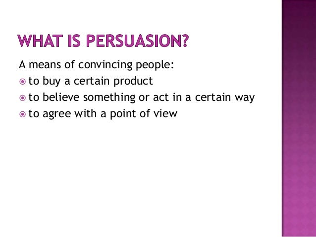 persuasive power point