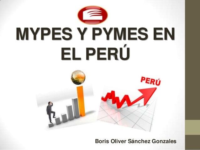 MYPES Y PYMES ENEL PERÚBoris Oliver Sánchez Gonzales
