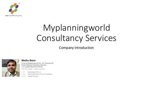 Myplanningworld Consultancy Services Company Introduction