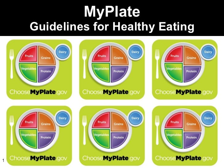 MyPlate Guidelines for Healthy Eating