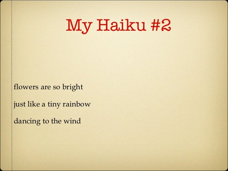 haiku poems about flowers - photo #19