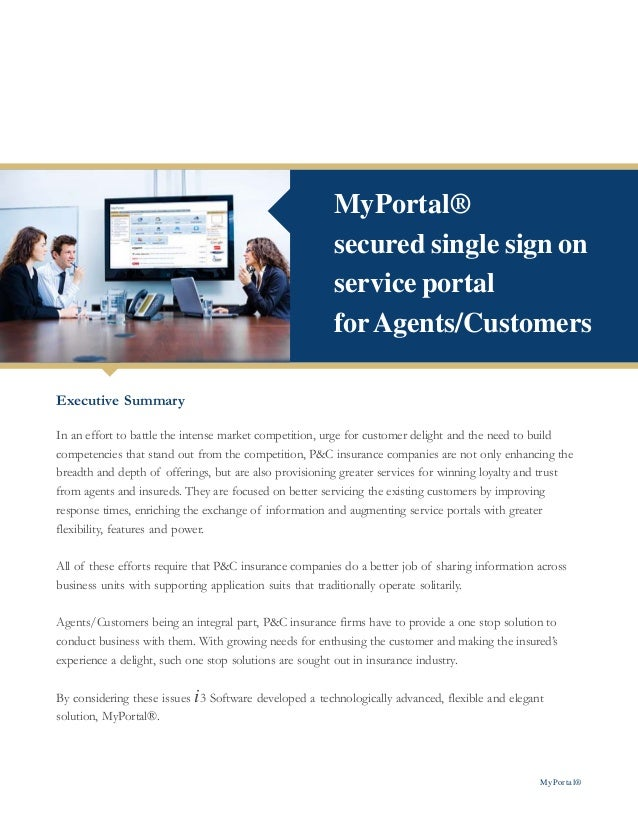 MyPortal®                                                        secured single sign on                                   ...