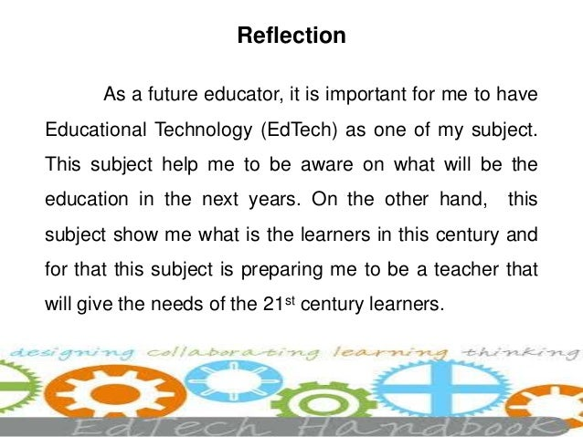My Portfolio In Educational Technology