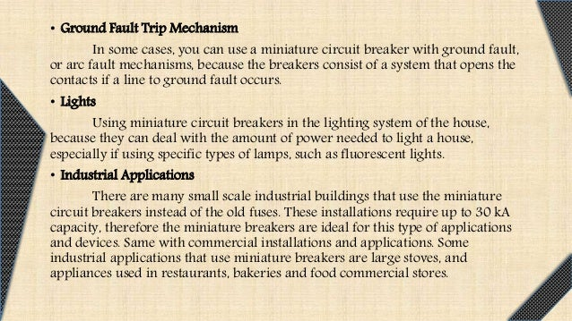 Mcb And Earth Leakage Circuit on Mcb Electrical Types